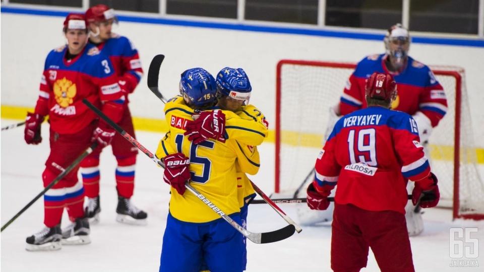 Elias Pettersson ja Lias Andersson ovat Ruotsin johtohahmoja.