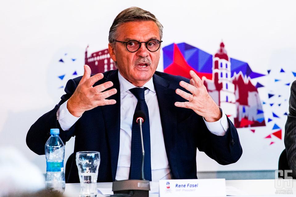 Rene Fasél ei väisty IIHF:n johdosta alkuperäisen suunnitelman mukaisesti.