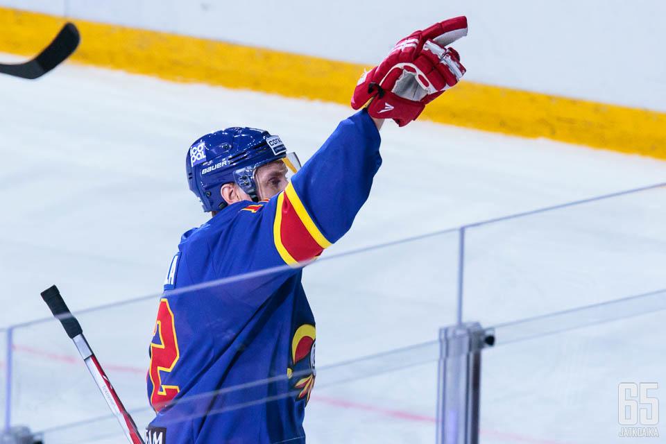 Vahvassa vireessä oleva Marko Anttila iski perjantaina maalin Spartakia vastaan.