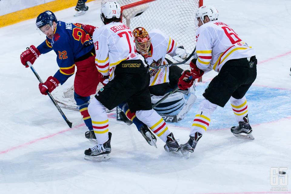KHL-tulokas Kunlun vieraili Helsingissä aiemmin tällä kaudella. (arkistokuva)