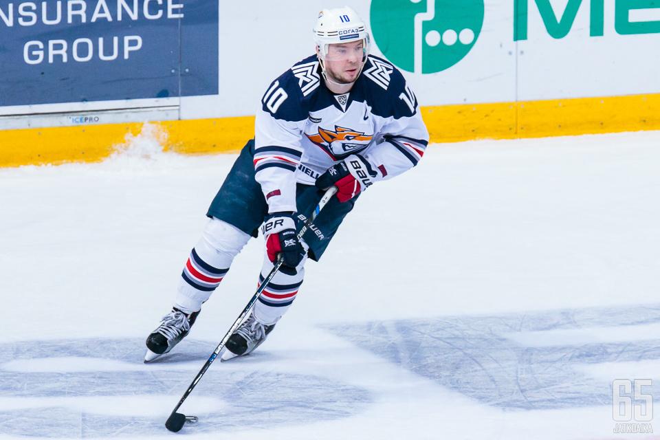 Sergei Mozjakin on pelannut Metallurgissa jo miltei vuosikymmenen.