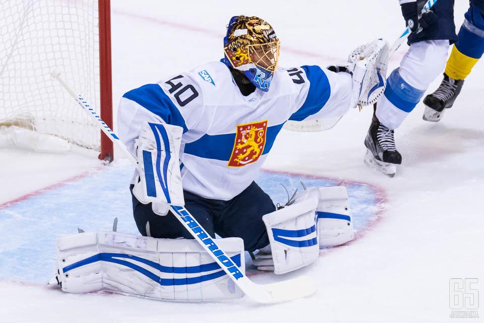 Tuukka Rask torjui viimeksi Suomen paidassa jääkiekon World Cupissa vuonna 2016.