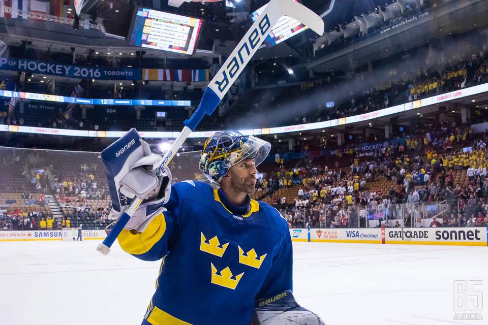 Henrik Lundqvist ei ole vielä koskaan hävinnyt Suomelle miesten arvokisoissa.