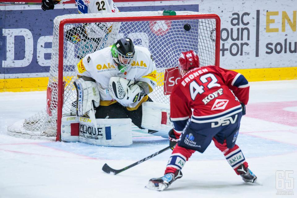 HIFK saa Teemu Erosen mukaan ensimmäiseen puolivälieräotteluun.