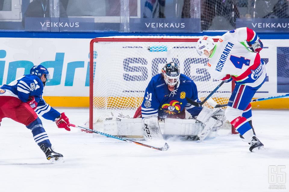 Jarno Koskiranta onnistui viikolla maalinteossa, kun hän sivalsi Pietarin SKA:n 2-1 johtomaalin KHL:n talviklassikossa.
