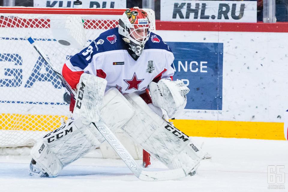 Lars Johansson on päästänyt pudotuspeleissä ainoastaan yhden maalin.