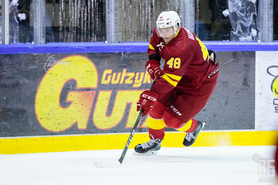 Ikonen debytoi KHL:ssä viime kaudella.
