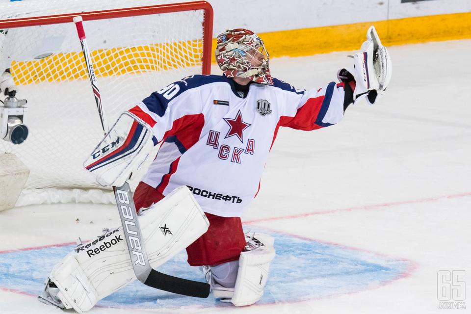 Sorokin on kuulunut jo pitkään KHL:n parhaimmistoon.