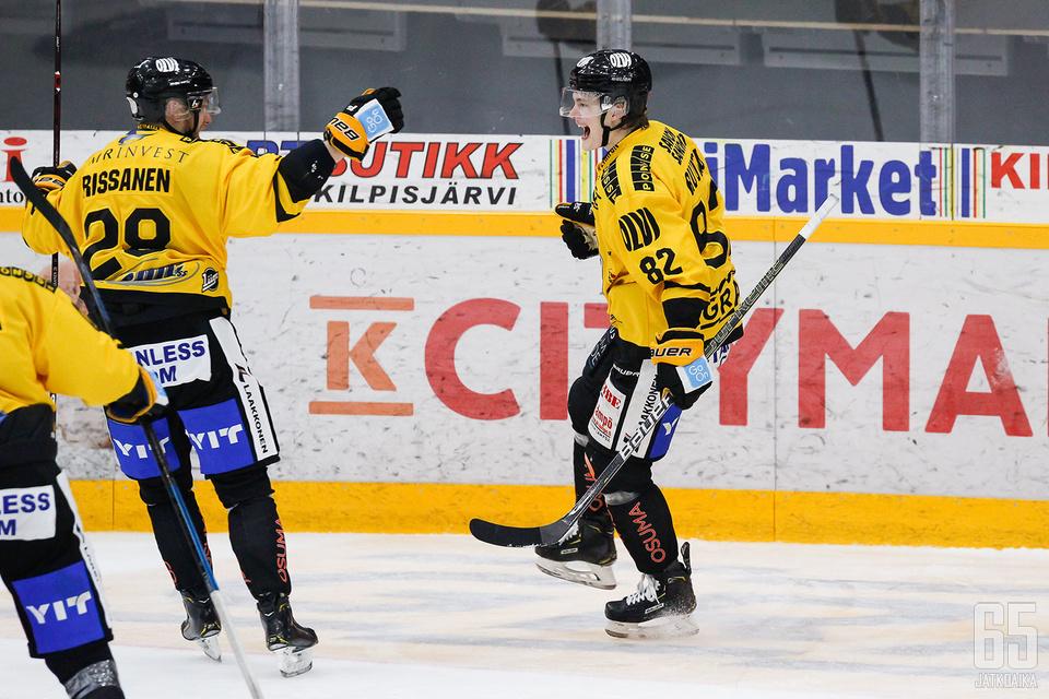 Viime aikoina vahvasti esiintynyt KalPan ykkösketju vastasi kuopiolaisten ensimmäisestä ja viimeisestä osumasta.