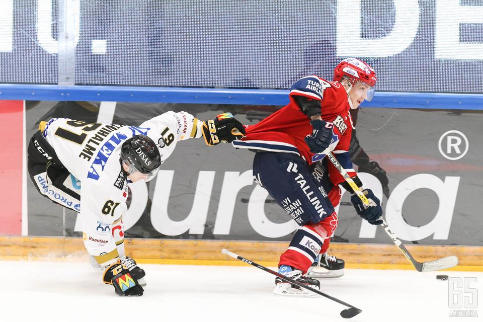Kärpät oli ottelussa HIFK:ta perässä.