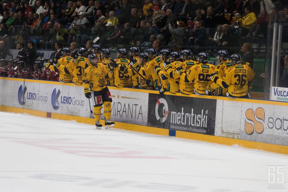 Lukko oli selvästi vahvempi joukkue Rauman torstai-illassa.