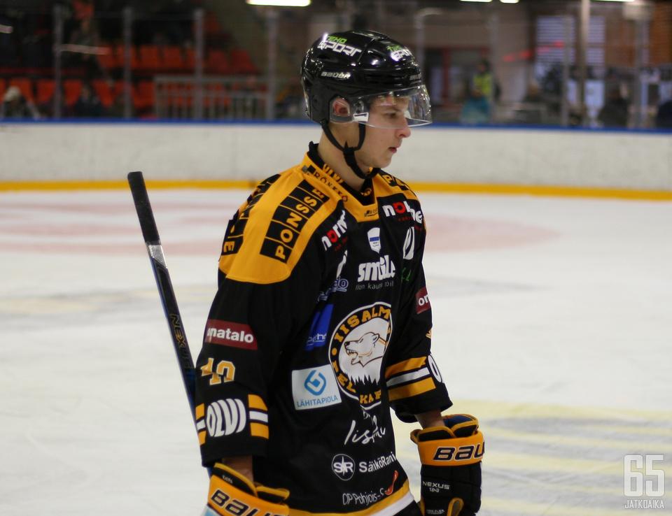Topi Piipponen on tahkonnut Peli-Karhuissa 55 ottelua kolmen kauden aikana.