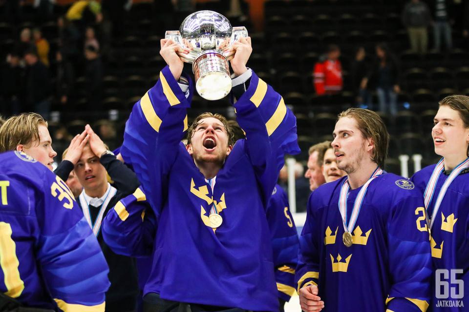 Ruotsi juhli tänä vuonna aiemmin U18 MM-kultaa.