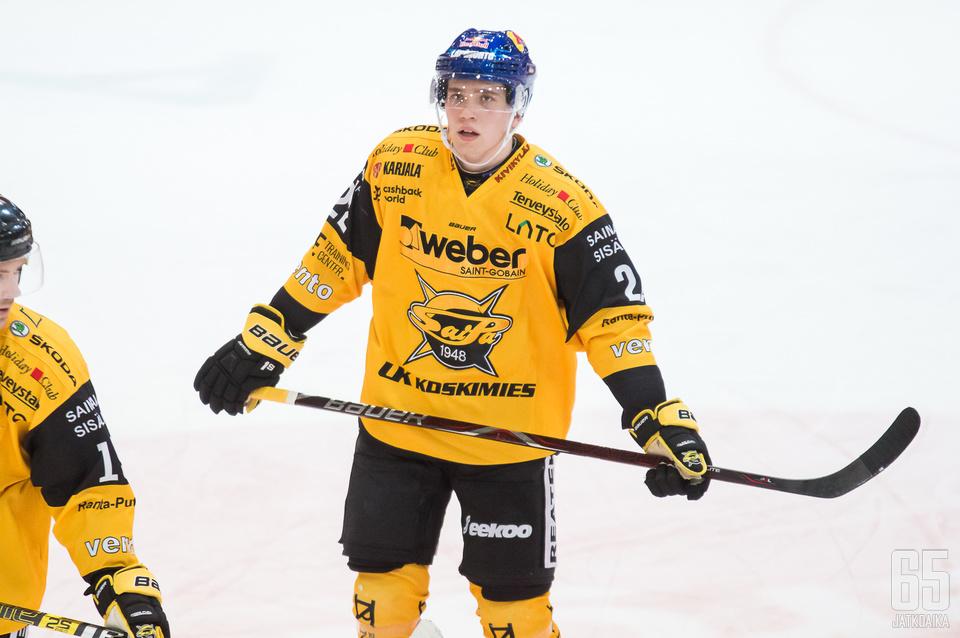 Virtanen pelaa uransa ensimmäistä Liiga-kauttaan.
