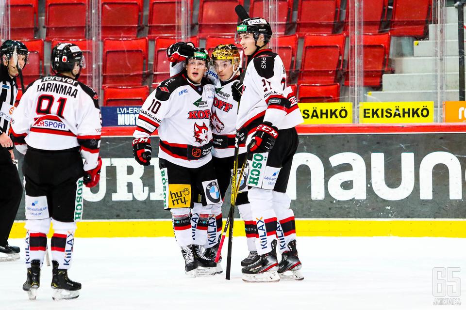 Matias Varttinen nauttii kiekollisesta roolistaan Jokipojissa.