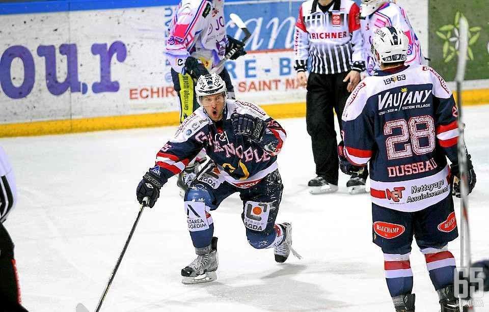 Vaskivuo on pelannut urallaan myös kauden Ranskassa.